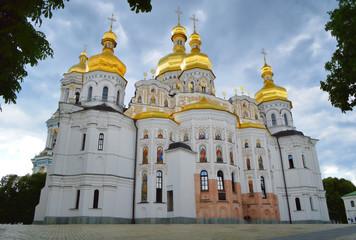 Foto op Aluminium Kiev Back facade of Dormition church at Kiev Pechersk Lavra, Ukraine