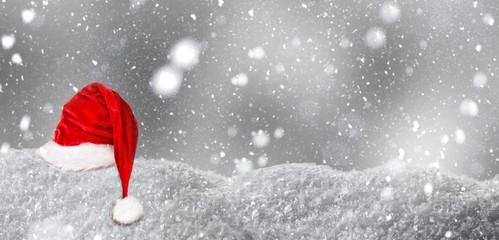 santa claus background snow