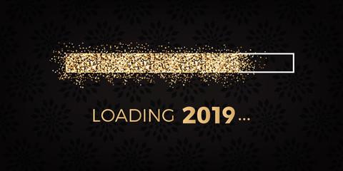 goldener Glitzer Ladebalken 2019