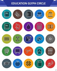 Education and learning Icon Set
