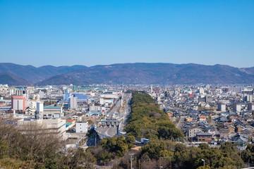 Cityscape of Sakaide city,Kagawa,Shikoku,Japan