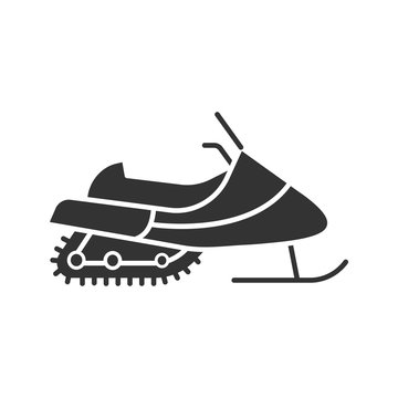 Snowmobile glyph icon
