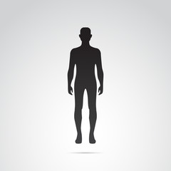 Human body silhouette vector art.