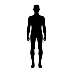 Male body silhouette.