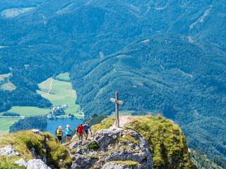 Gipfelkreuz auf dem Schafberg im Salzkammergut
