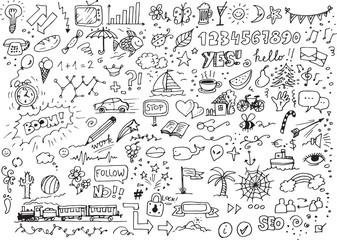 Various hand drawn doodles