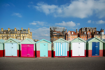 Colorfull huts in Brighton