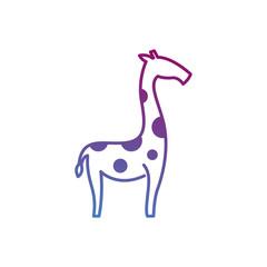 cute giraffe line art illustration