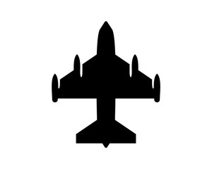 plane icon silhouette vehicle transportation transport image vector icon logo