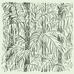 Palm sketch. Hand drawn vector illustration.