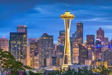 Fototapete - Seattle, Washington, USA Skyline