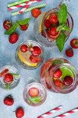 Cold transparent drink