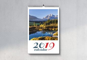 Portrait Wall Calendar 2019 Layout