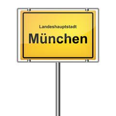 Ortsschild - München