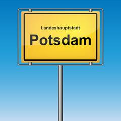 Ortsschild - Potsdam