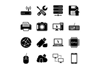 Technology and Hardware Icons