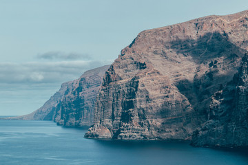 Fotomurales - Great view of Los Gigantes mountain cliff in Tenerife, Spain.