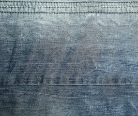 close up.abstract background made of jeans fabric.photo with copy space