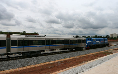 An Abuja light rail train in Abuja