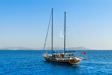 Kalymnos Island, Greece; 23 October 2010: Bodrum Cup Races, Gulet Wooden Sailboats