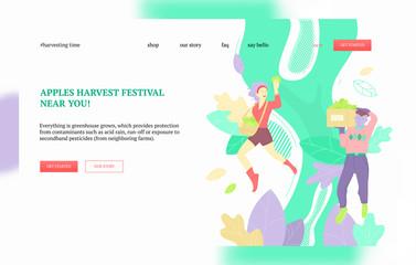 Apples harvest festival banner
