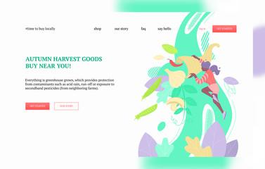 Autumn harvest goods banner
