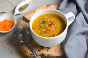 Lentil Bulgur Soup, Comfort Food, Turkish Cuisine