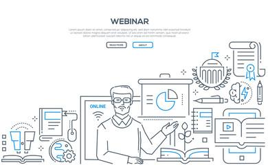 Webinar - line design style illustration