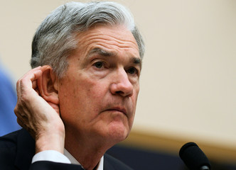 "Federal Reserve Chairman Jerome Powell testifies before a House Financial Services Committee hearing on the ""Semiannual Monetary Policy Report to Congress"" in Washington"