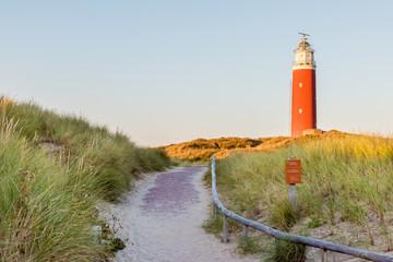 Leuchtturm Eierland auf der Insel Texel in den Niederlanden Wall mural