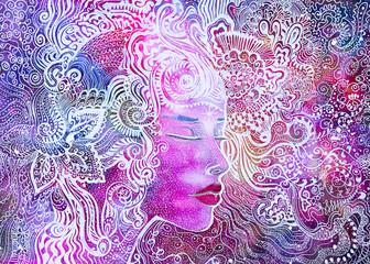 dipinto acquerello bella donna forza vitale