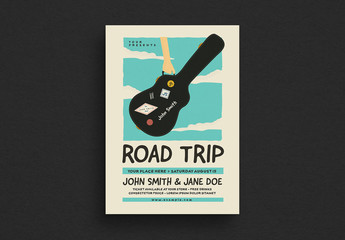 Road Trip Gigs Event Flyer Layout