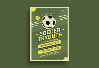 Soccer Tryouts Flyer Layout