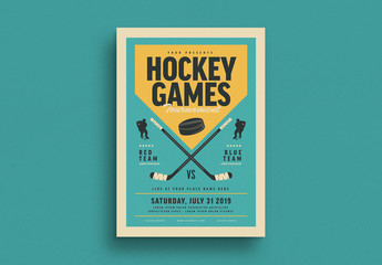 Hockey Tournament Flyer Layout