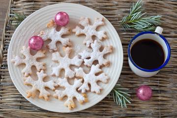 Schneeflocken- Kekse