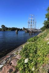 Malerisches Segelschiff am Nord Ostsee Kanal