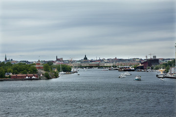 Panorama of Gamla Stan, Old Town in Stockholm, the capital of Sweden.