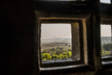 View of Taj Mahal from Agra