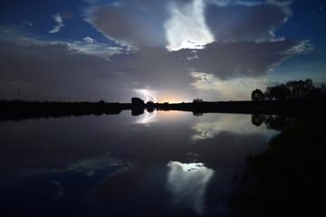 Lightning at a Lake