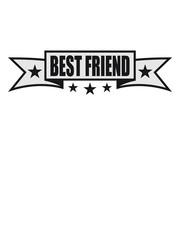 banner sterne linie best friends text logo freunde beste liebe paar 2 team crew duo zusammen bleiben spaß freundin freund treu
