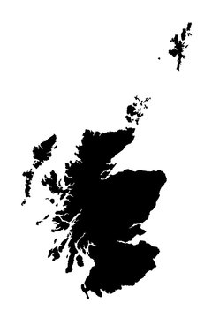map of Scotland. vector illustration