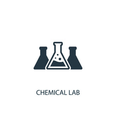 Chemical lab creative icon. Simple element illustration