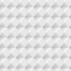 White seamless volumetric texture. Vector modern pattern.