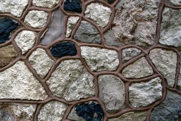 Modern design decorative brown stone wall background