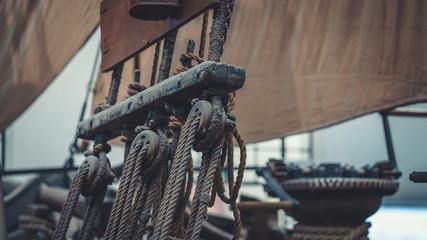 Foto auf AluDibond Schiff Vintage Ships' Mast