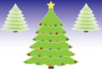 Christmas trees, format vector and jpg.