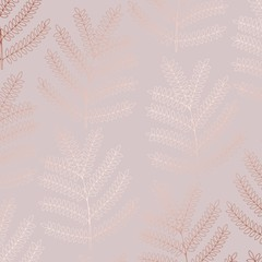Vector decorative background with imitation of rose gold