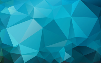 blue background of the triangles Bright colors, marine abstract background