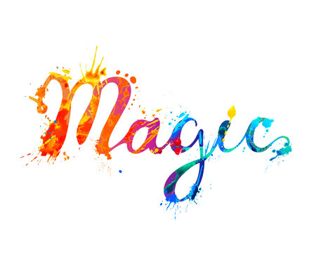 Magic. Vector splash paint letters