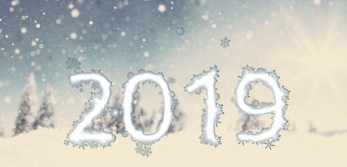 Wintertime Landscape 2019 Bokeh Postcard